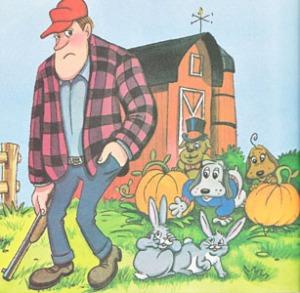 Farmer Brown can't bear to hurt the bunnies